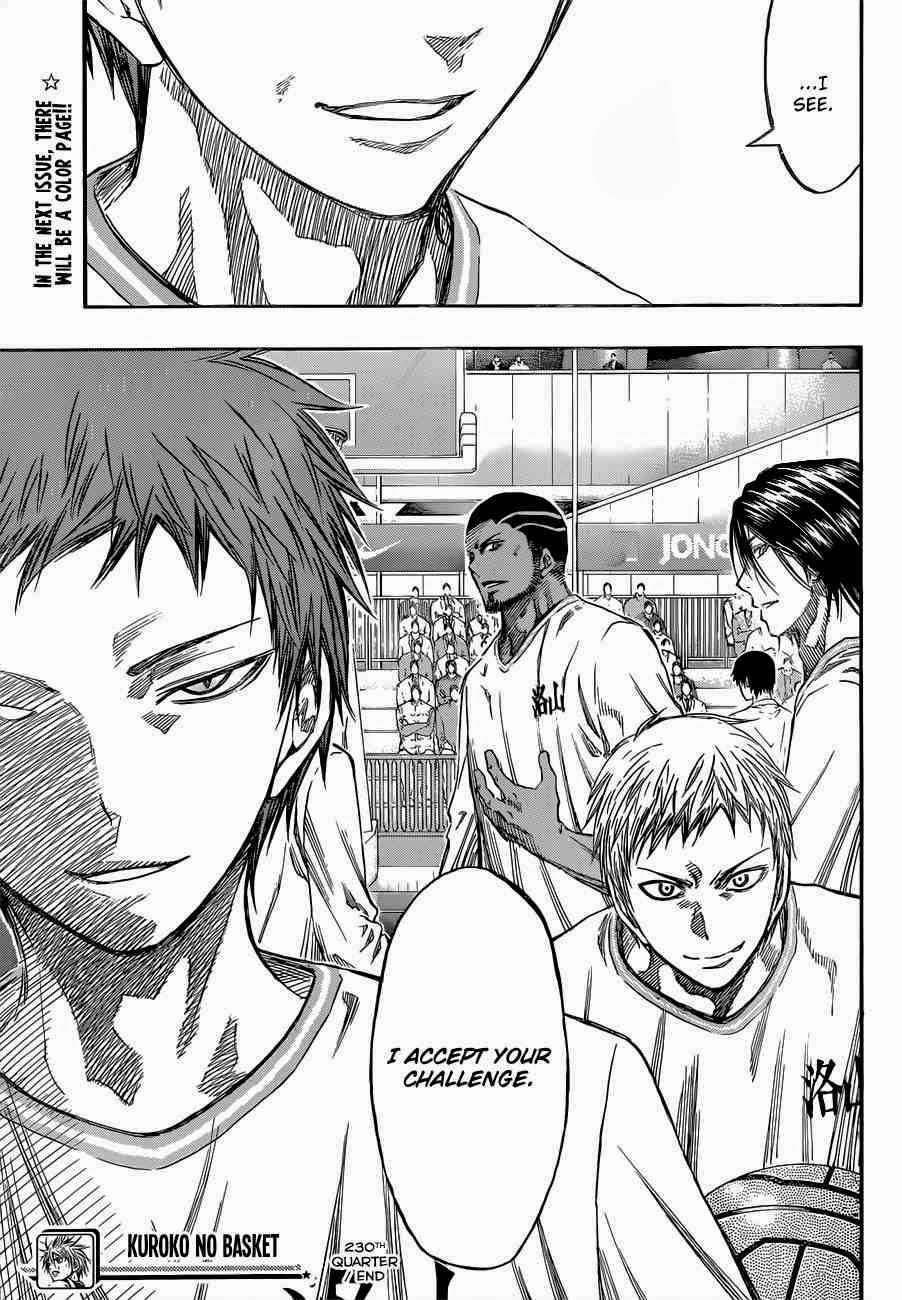 Kuroko no Basket Manga Chapter 230 - Image 23