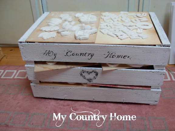 My country home cassetta shabby asciuga gessi picture to for Regalo cassettiera