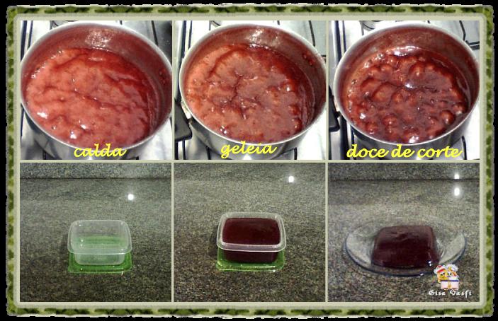 Doces de morango em barra 2