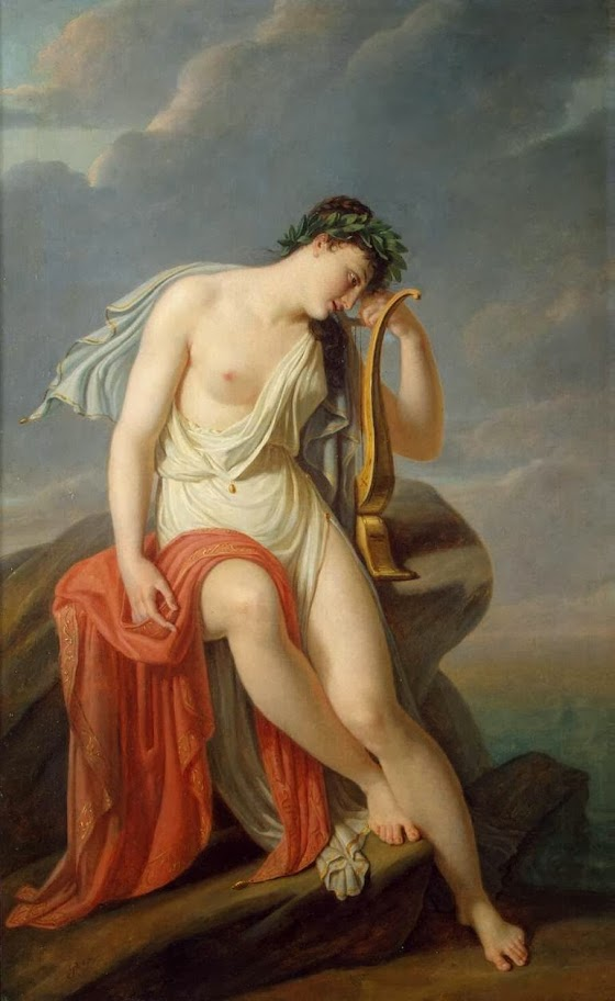 Pierre-Narcisse Guerin - Sappho on the Leucadian Cliff