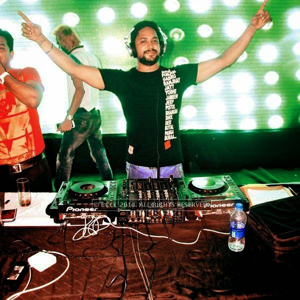 DJ Jimmy during a rain dance party in Kanpur.