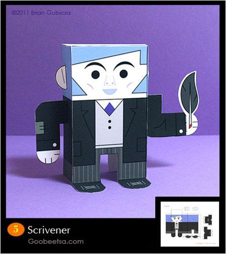 Scrivener Paper Toy