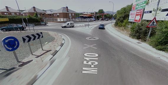 Se eliminará un cruce peligroso en la carretera M-510 en Galapagar