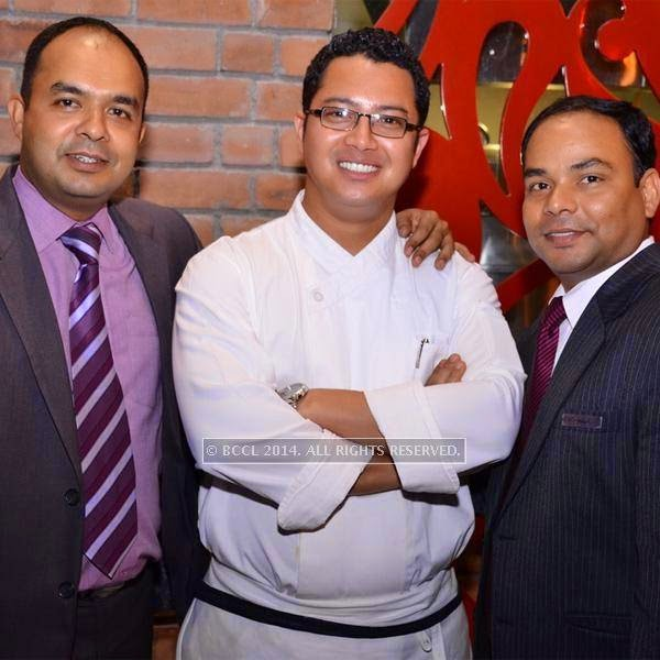 Raghu,Chef Mayur and Rakesh during the Dim sum festival held in Bangalore.