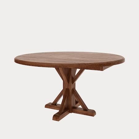 Round Alexandria Drop Leaf Table