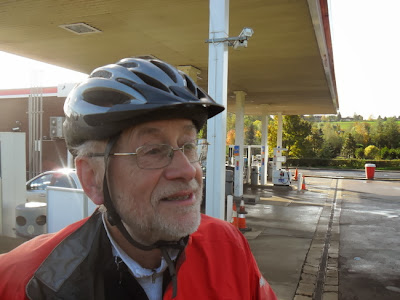 Richard at petrol station