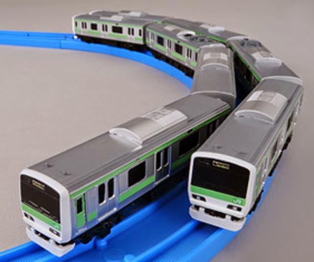 Tàu hỏa AS-04 E231-500 Yamanote Line được thiết kế vừa vặn với đường ray cở bản