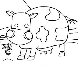 Coloriage vache : dessin gratuit vache coloriage à imprimer