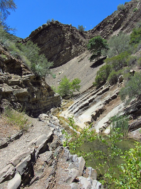 trail and water along the layers