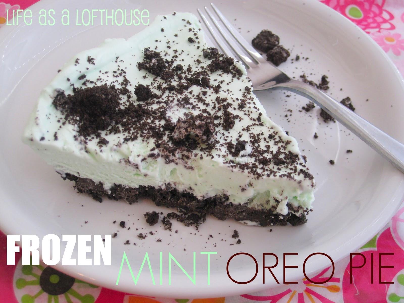 Frozen Mint Oreo Pie Life In The Lofthouse