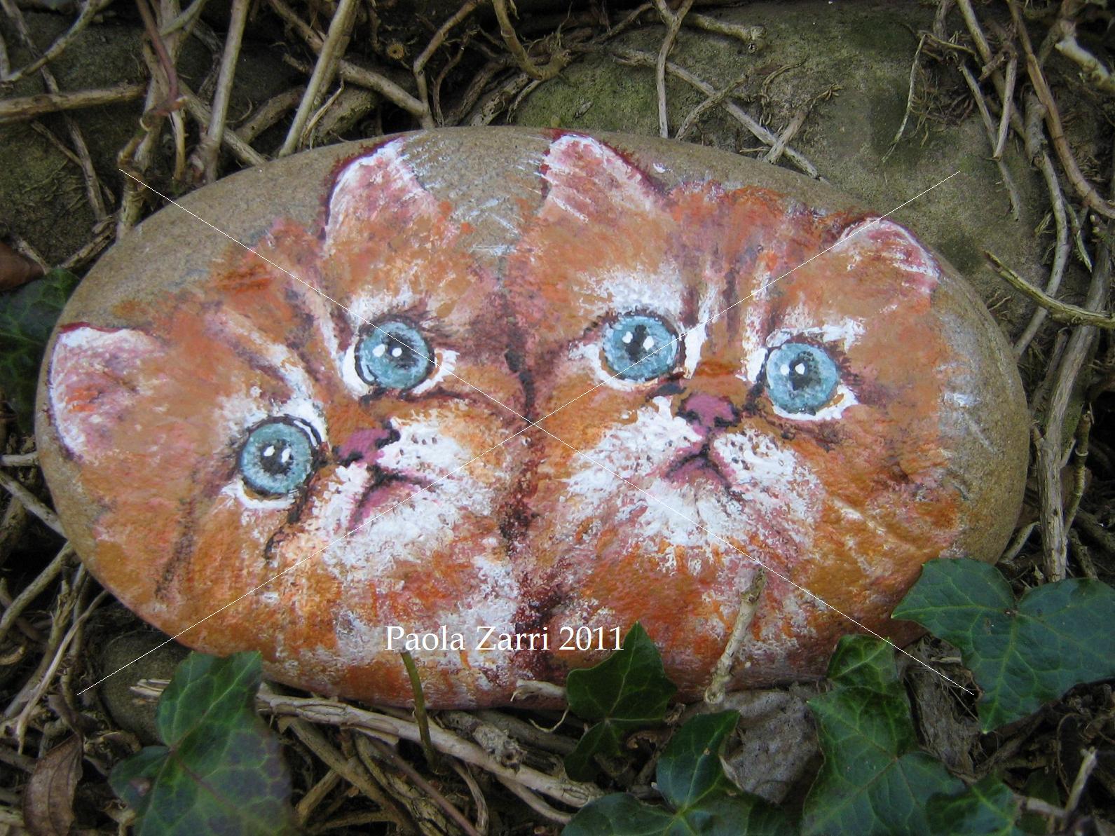 Pzcreazioni i sassi di paola animali 2011 gatti for Sassi per tartarughe