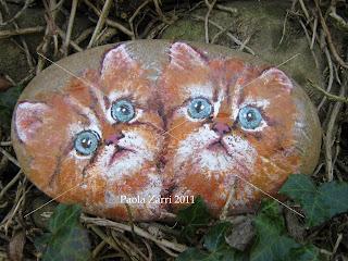 Pzcreazioni i sassi di paola animali 2011 gatti for I gatti mangiano le tartarughe