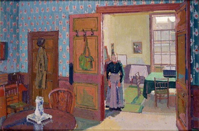 Harold Gilman - Interior with Mrs Mounter
