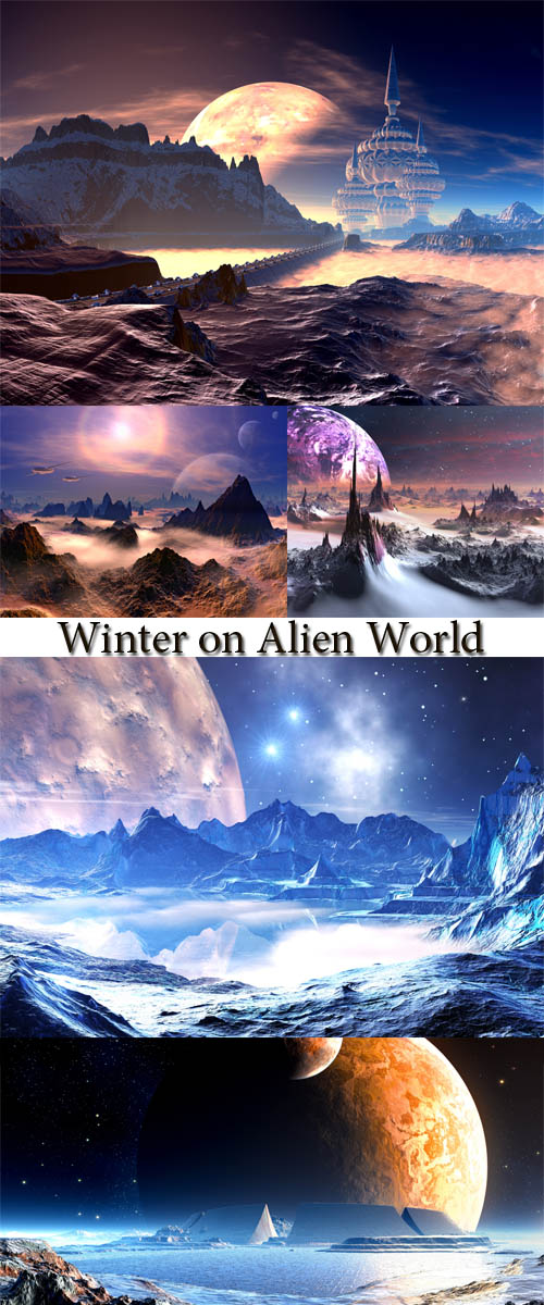 Stock Photo: Winter on Alien World