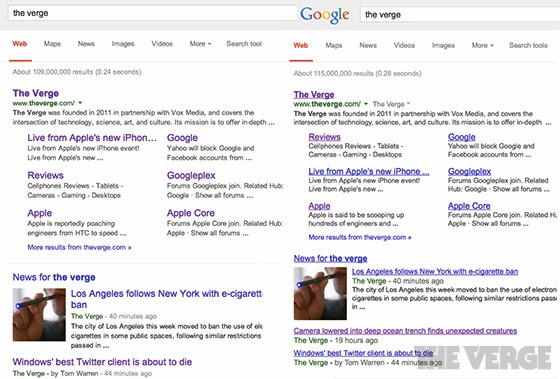 Google Suche Vergleich