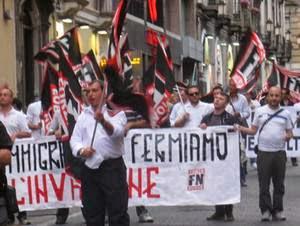 Catania, contromanifestazione ANPIcontro FN, manifestazione FN, Forza Nuova