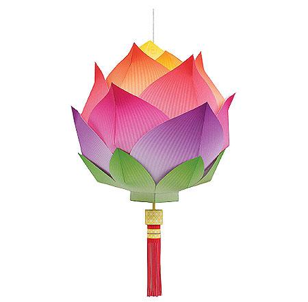Lotus Lantern Papercraft