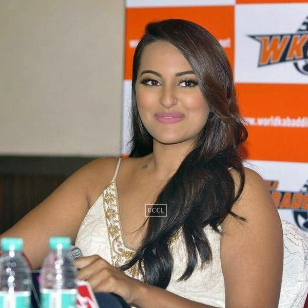 Sonakshi Sinha clicked during a press meet to announce her association with World Kabaddi League (WKL), held at hotel Novotel, on July 16, 2014.(Pic: Viral Bhayani)