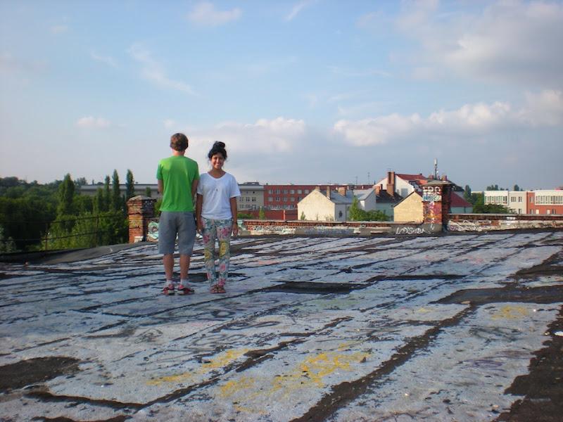 TFB Steph on Roof