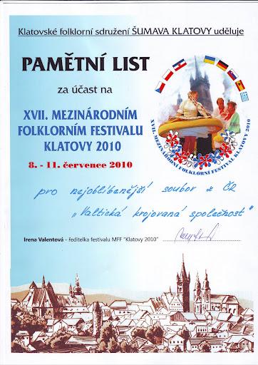 Nejoblíbenější soubor z ČR na MSS Klatovy