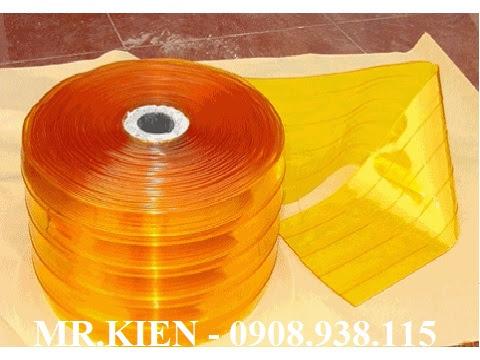 Rèm nhựa PVC màu vàng