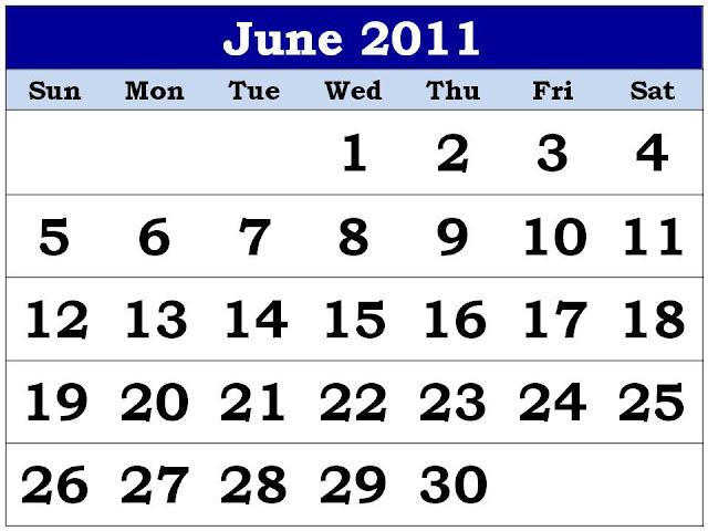 june 2011 calendar. june 2011 calendar print.