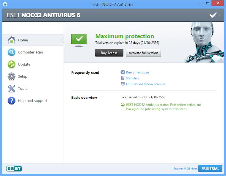 การเปิดใช้งานโหมดสำหรับผู้เล่นเกมบน Nod32 และการกำหนดค่า Nodgame04