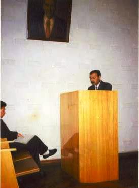 Dissertassion çykyş - Tükmenistan Ylymlar Akademyasynyň Ş. Batyrow adyndaky Taryh Inistituty-Aşgabat-Dekabr 1995 y., Ownuk Hangeldi Arazgeldi ogli