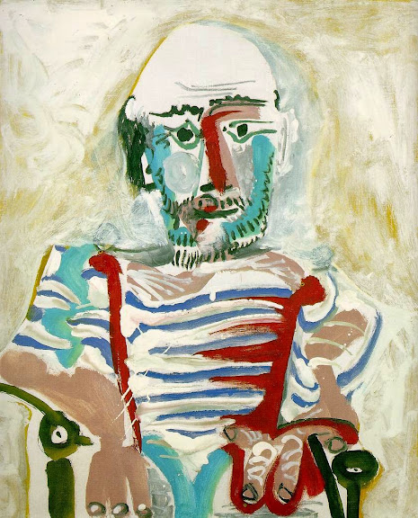 Pablo Picasso - Seated Man (Self Portrait) 1965