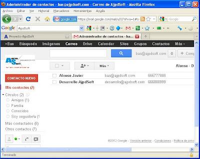 Importar contactos de Thunderbird a Google, sincronizar contactos con Zindus