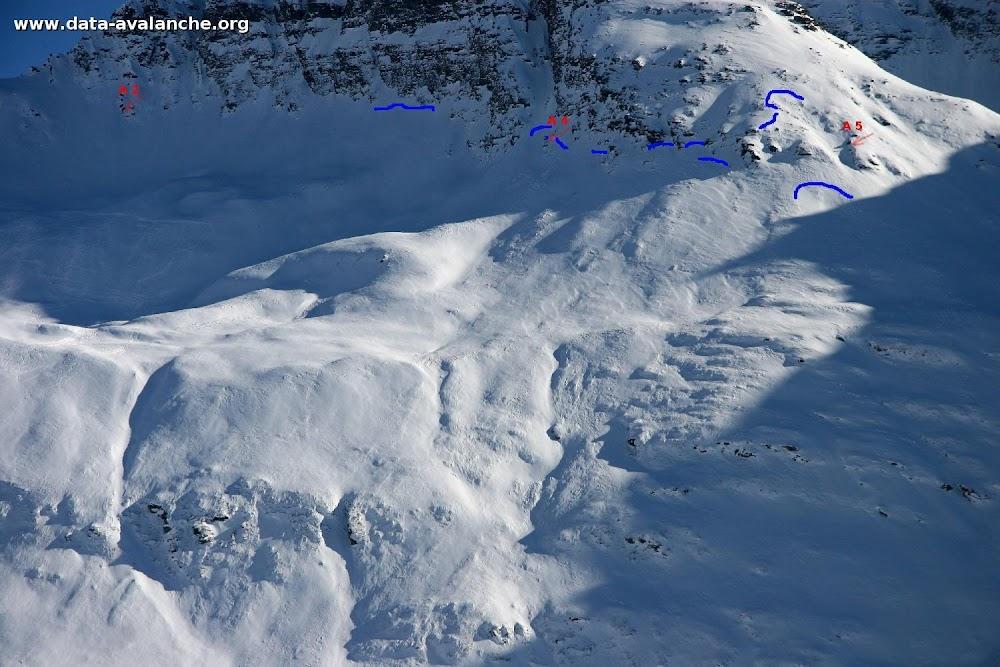 Avalanche Haute Maurienne, secteur Pointe d'Andagne, Balme Noire - Photo 1 - © Duclos Alain