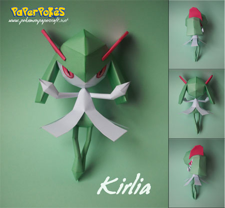 Pokemon Kirlia Papercraft