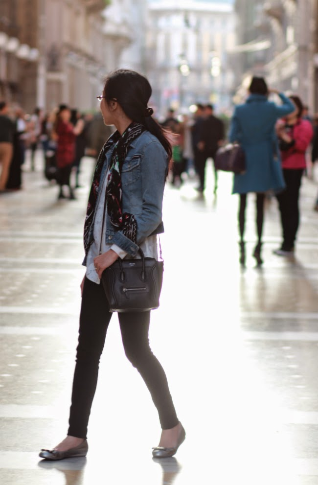 denim jean jacket casual outfit