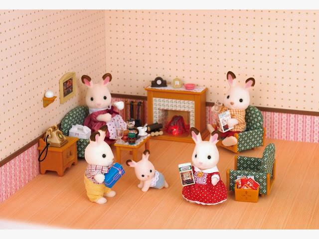 Gia đình thú bông trong phòng khách Deluxe Livingroom Set