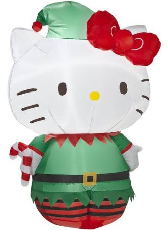 Hello Kitty 3' Christmas Lighted Airblown Inflatable Yard Decoration by Gemmy