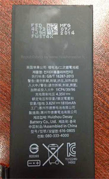 4.7-inch iPhone 6 battery