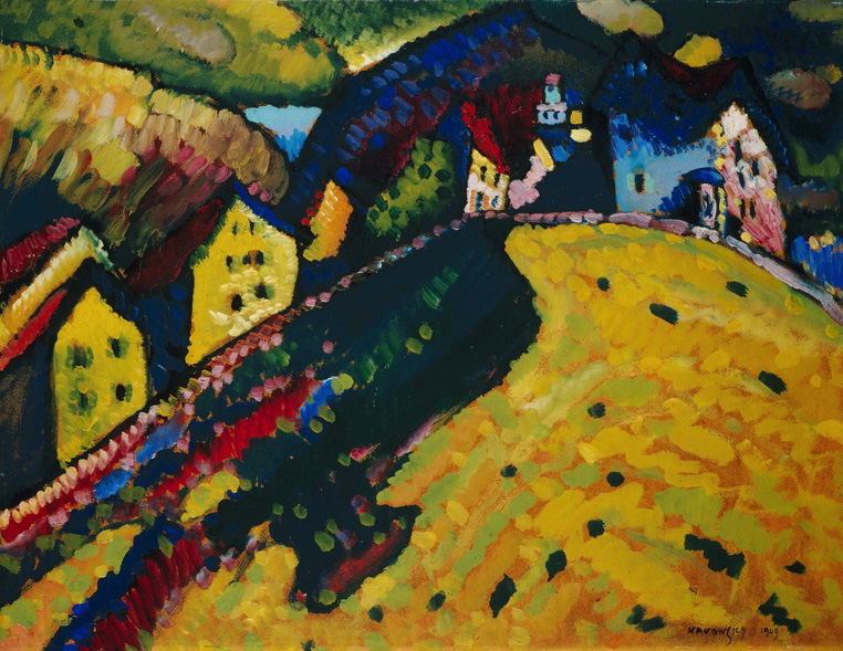 Wassily Kandinsky – Houses at Murnau,1909