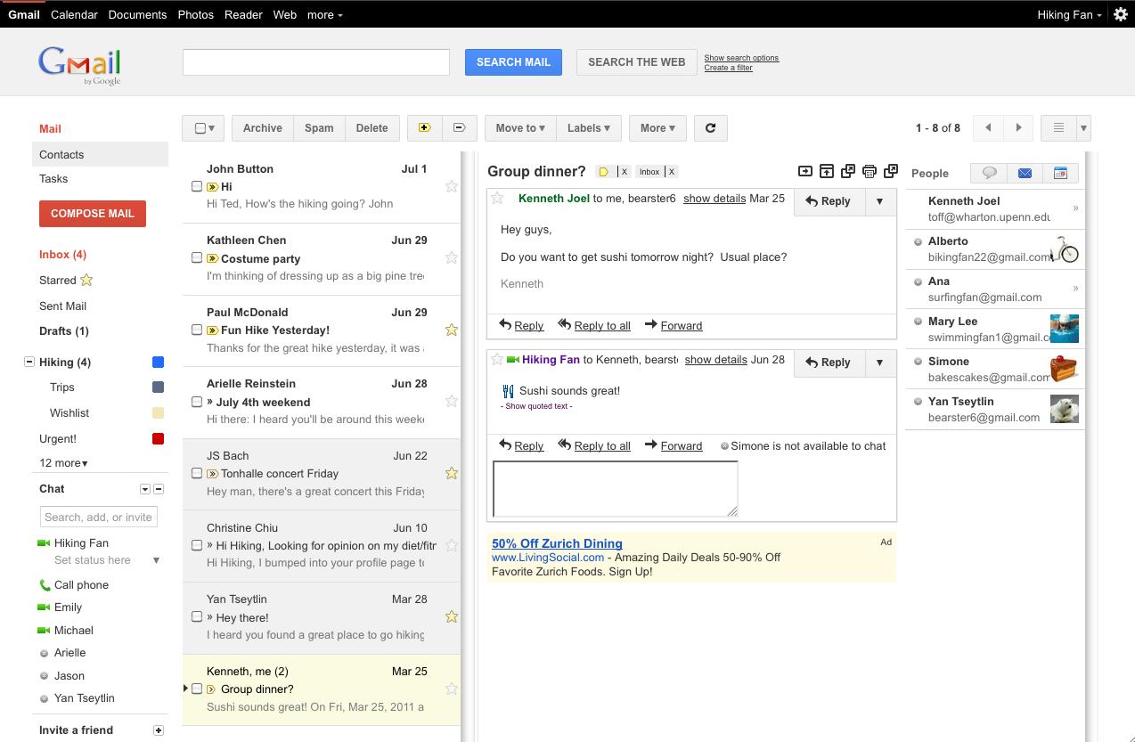 Google Mail Vorschau