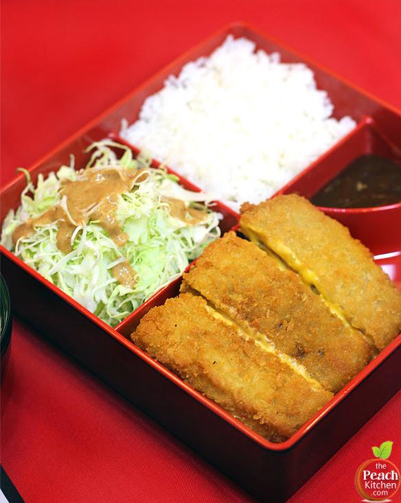 Tokyo Tokyo Cheese Tonkatsu Bento | www.thepeachkitchen.com