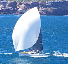 J/111 speedster- one-design sailboat- sailing off Sydney, Australia