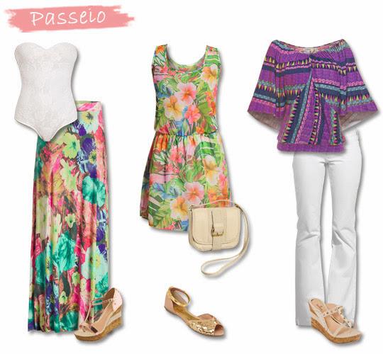 Um visual fashion e cheio de charme para passear no verão