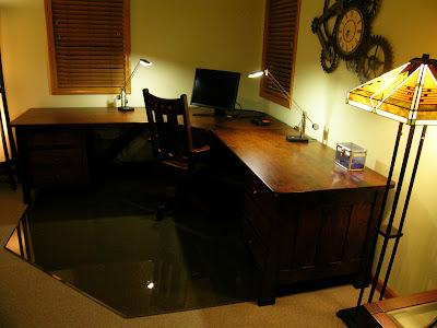 custom killion l-shaped desk