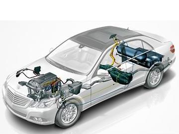 Mercedes E 200 NGD W 212 CNG (schemat)