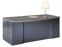 "CSII 39""D Bow Front Desks, 60""W x 39""D x 29""H, 1 B/B/F ped, 1 F/F"