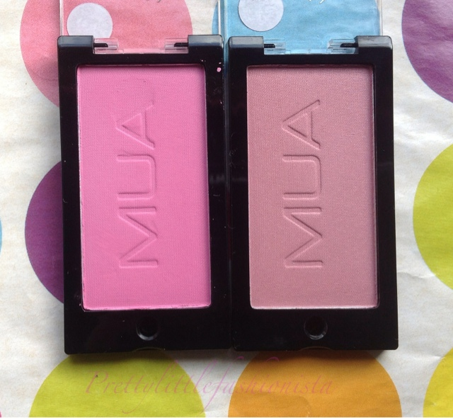 MUA Blushes Marshmallow and Candyfloss