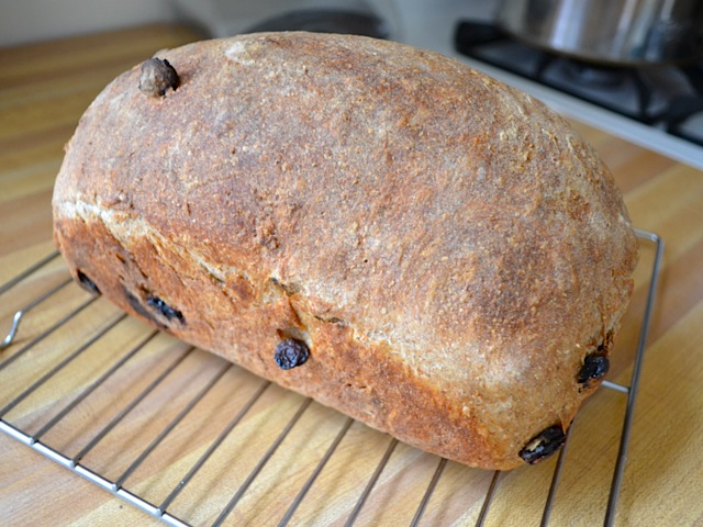 baked raisin spice bread