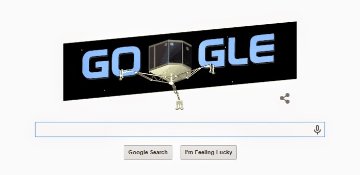 first touchdown on comet nucleus honored with google doodle