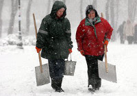 Снегопад в Тернополе