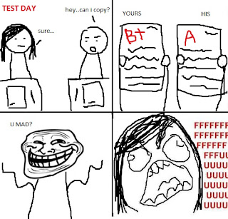 rage comics copying during test day grades, rage comics testday, rage comics test, rage comics cheating, rage comics, u mad, trollface, trollface u mad, u mad rage comics, fffffuuuuu, ffffuuuu, fffuuu