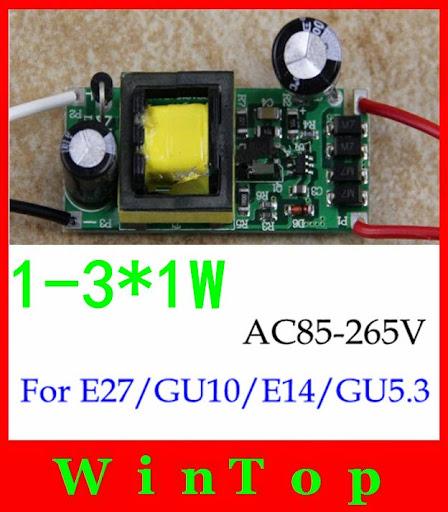 10s/ AC85-265V 1-3W LED Driver Lighting Transformers Fo